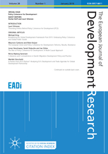 Call for paper for a Special Issue of EJDR on Innovation Systems in the Era of Global Value Chains